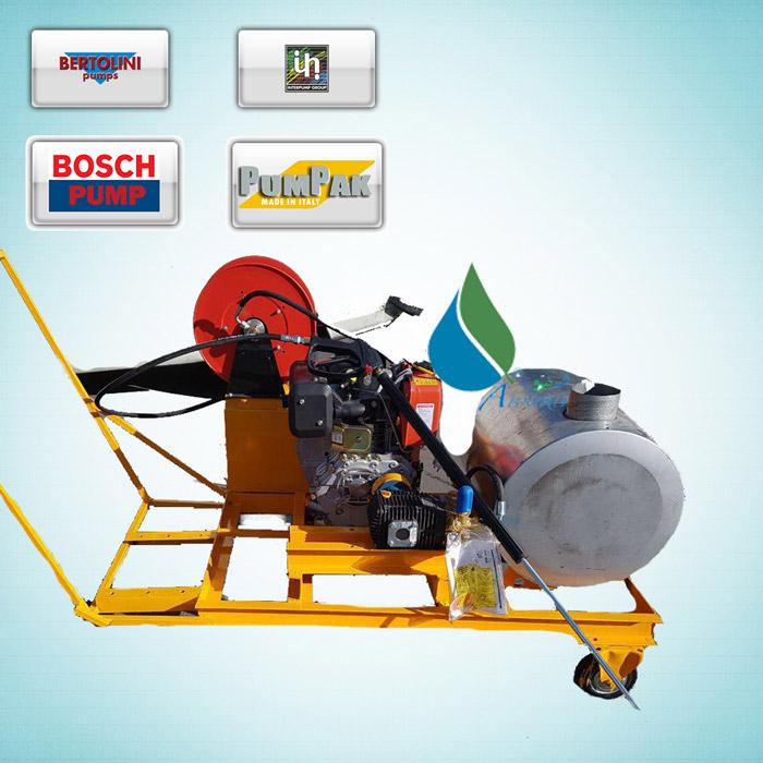 کارواش صنعتی با موتور های دیزلی و بنزینی