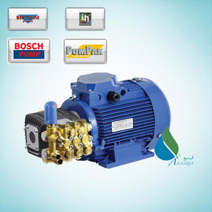 کارواش صنعتی با الکتروموتور تکفاز و سه فاز