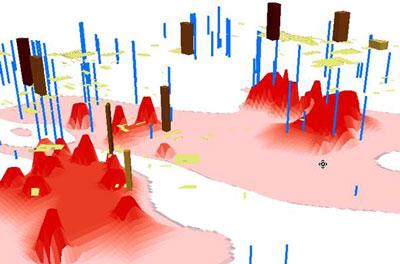 نمایش آلودگی با GIS